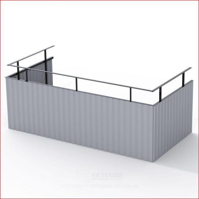 Ljusgrå balkong räcke